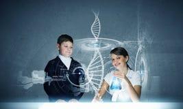 Урок химии Стоковое Изображение