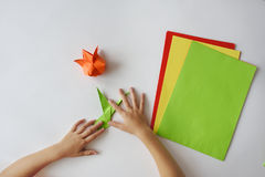 Урок origami Стоковые Изображения