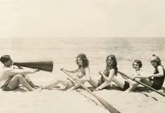 Урок rowing Стоковые Изображения