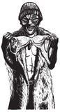 Уродский с бюстгальтером Вектор нарисованный рукой Стоковая Фотография RF