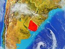 Уругвай на земле от космоса бесплатная иллюстрация