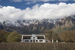 Усадьба накидки голландская на ферме вина стоковое изображение rf