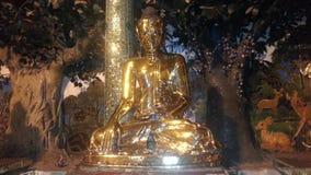 Усаженное изображение Будды вокруг пагоды Shwedagon Стоковые Фотографии RF