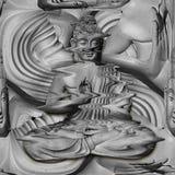 Усаженный Будда в представлении лотоса Стоковые Фото