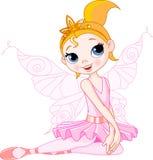 усаживание балерины милое fairy Стоковая Фотография