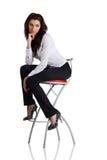 усаживание девушки стула штанги Стоковая Фотография RF