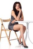 усаживание девушки стула Стоковые Фотографии RF
