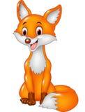 Усаживание лисы smiley шаржа Стоковая Фотография RF