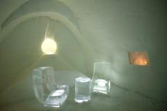 усаживание комнаты льда Стоковая Фотография