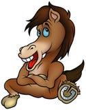 усаживание лошади иллюстрация вектора