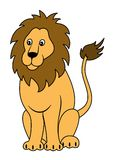 Усаживание льва Стоковые Изображения RF