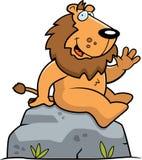 усаживание льва бесплатная иллюстрация