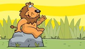 усаживание льва иллюстрация вектора