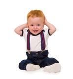 Усаживание малыша one-year-old Стоковые Фото