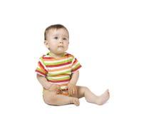 усаживание младенца Стоковое Фото