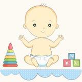 Усаживание младенца Бесплатная Иллюстрация