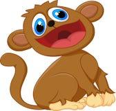Усаживание обезьяны шаржа милое Стоковые Фото