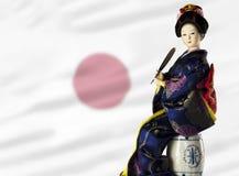 усаживание повелительницы флага японское Стоковые Фото