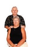 усаживание портрета пар старшее стоковые изображения