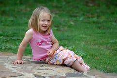 усаживание ребенка Стоковая Фотография