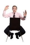 усаживание человека стула дела стоковое фото rf