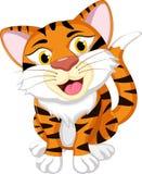 Усаживание шаржа тигра Стоковая Фотография