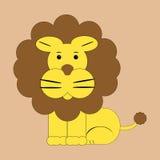 Усаживание льва Стоковые Фото