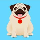 усаживание pug бесплатная иллюстрация