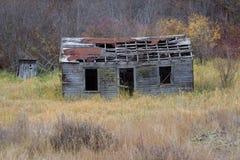 Усадьба верхних гористых местностей Okanogan старая. Стоковые Фото