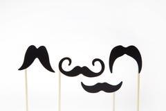 Усики на деревянных ручках Стоковая Фотография