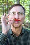 Усик перца чилей человека Стоковое фото RF
