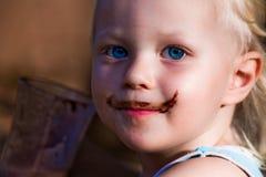 усик шоколада мальчика милый Стоковые Изображения