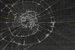 усиленное стекло разрушенным Стоковые Изображения