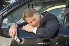 усиленный бизнесмен стоковое фото rf