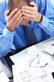 Усилие. Бизнесмен в офисе стоковое изображение rf
