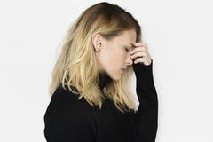Усиленная концепция больного стресса проблемы отказа несчастная стоковое фото rf