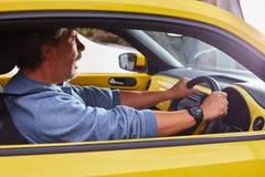 Усиленный водитель автомобиля Стоковые Изображения
