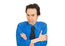 Усиленный несчастный думать молодого человека тревоженый что как раз случилось Стоковые Изображения RF