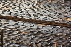 Усиливая бар (арматура) на строительной площадке Стоковая Фотография