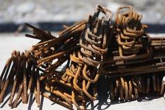 Усиливая сталь на строительной площадке Стоковое Фото