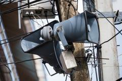 Усилитель громкоговорителя на поляках в Таиланде Стоковое Фото