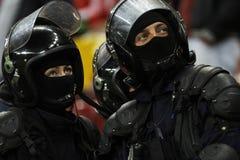 Усилия полицейских сил Стоковые Фотографии RF