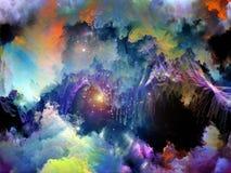 Ускорение виртуальных облаков Стоковое Фото