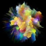 Ускорение красочного взрыва выплеска краски стоковые фото