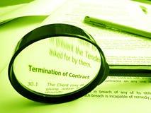 условия заключают контракт изучать Стоковая Фотография RF