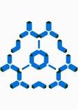 условно молекула Стоковое фото RF