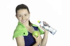 Усмехаться атлетической женщины девушки счастливый Стоковые Фото