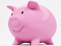 усмехаться банка 3d piggy иллюстрация вектора