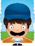 Усмехаться бейсболиста мальчика шаржа бесплатная иллюстрация