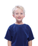 усмехаться белокурого мальчика счастливый стоковое изображение